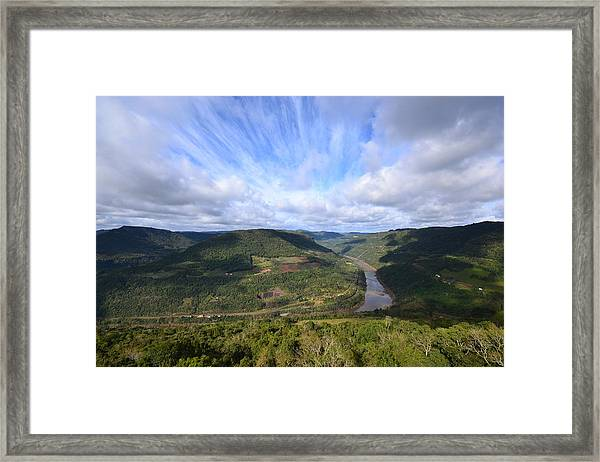 Vista Do Vale Do Rio Das Antas Framed Print
