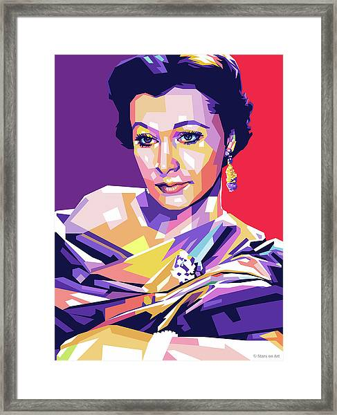 Vivien Leigh Pop Art Framed Print