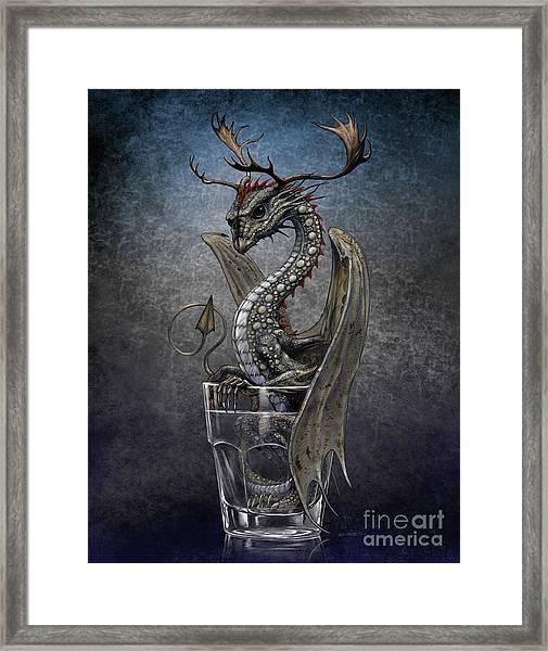 Vodka Dragon Framed Print