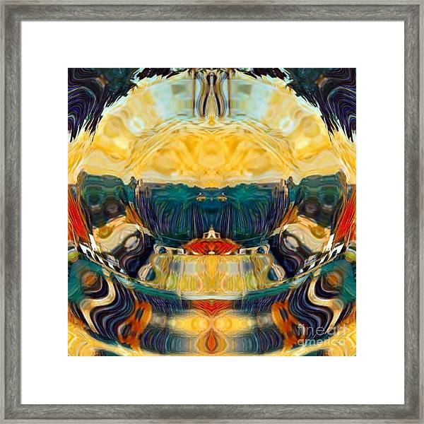 Framed Print featuring the digital art Volcano 2.0 by A zakaria Mami