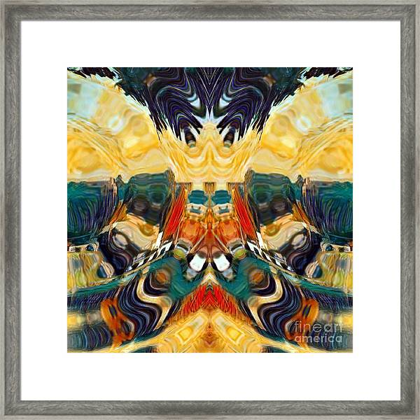 Framed Print featuring the digital art Volcano by A zakaria Mami
