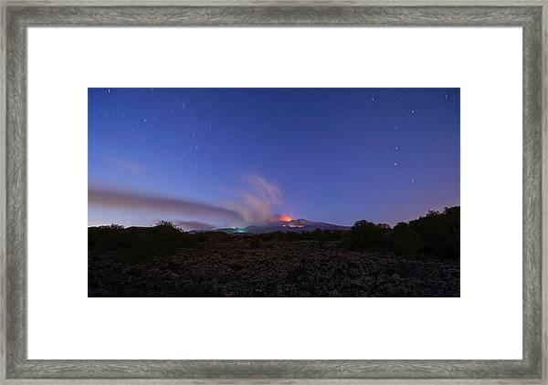 Volcano Etna Eruption Framed Print