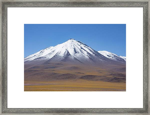 Volcano On The Altiplano Framed Print