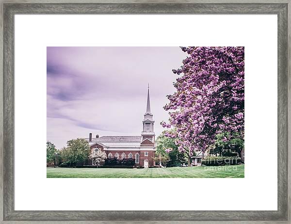 Voorhees Chapel - Rutgers University Framed Print