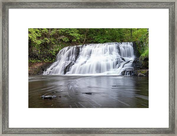 Wadsworth Falls In Middletown, Connecticut U.s.a.  Framed Print