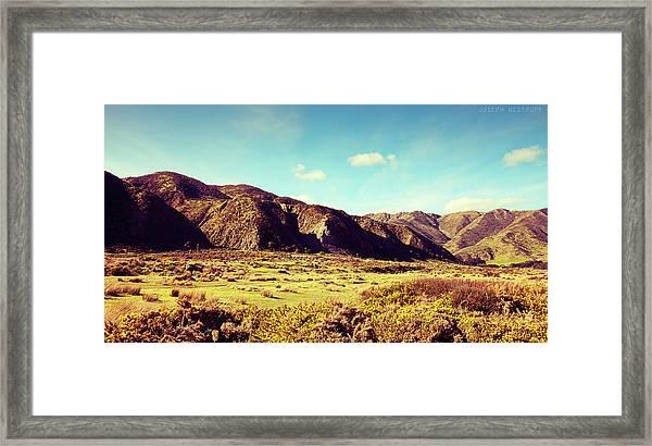 Wainui Hills Framed Print