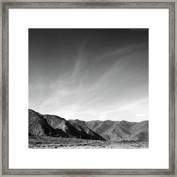 Wainui Hills Squared In Black And White Framed Print