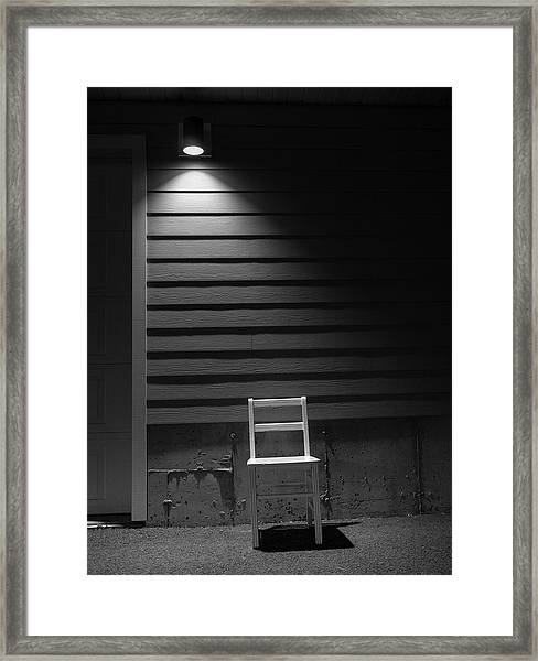Waiting / The Chair Project Framed Print