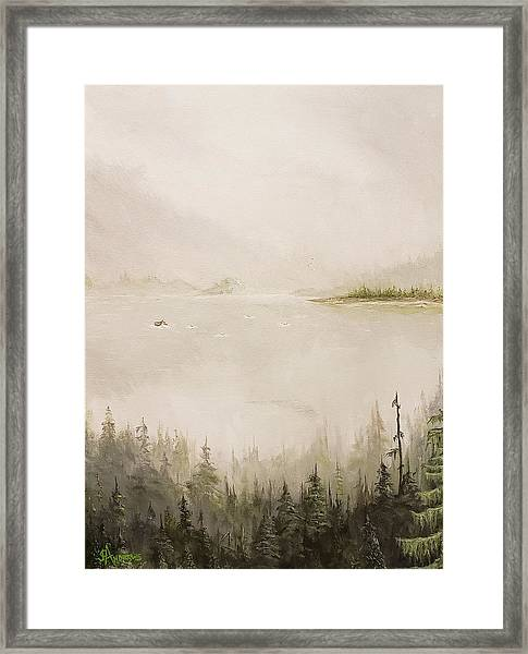 Waiting For The Eagle To Come Framed Print