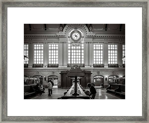 Framed Print featuring the photograph Waiting Room by Steve Stanger