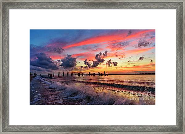 Framed Print featuring the photograph Wake Ripples by DJA Images