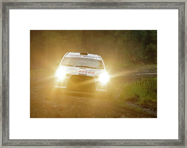Framed Print featuring the photograph Wales Rally 2016 by Elliott Coleman