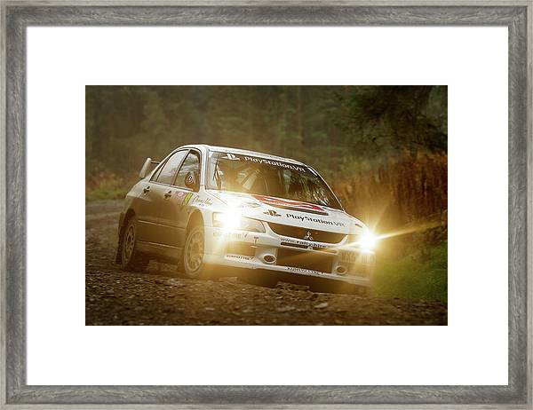 Framed Print featuring the photograph Wales Rally Gb 2016 - 92 Tony Jardine, Gbr by Elliott Coleman