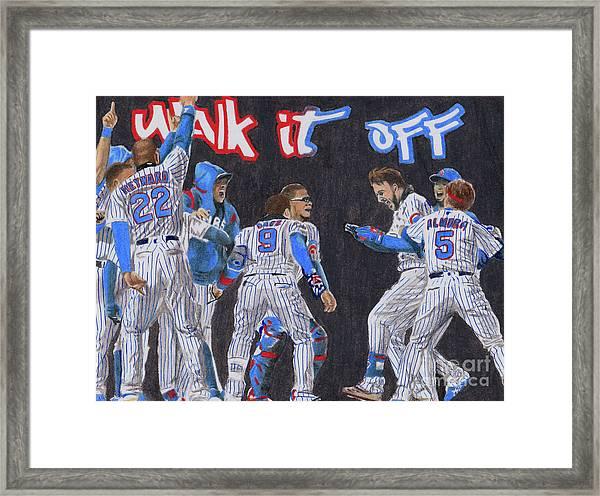Walk It Off Framed Print