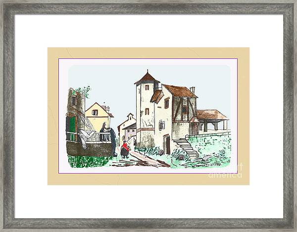 Walk Through Town Framed Print