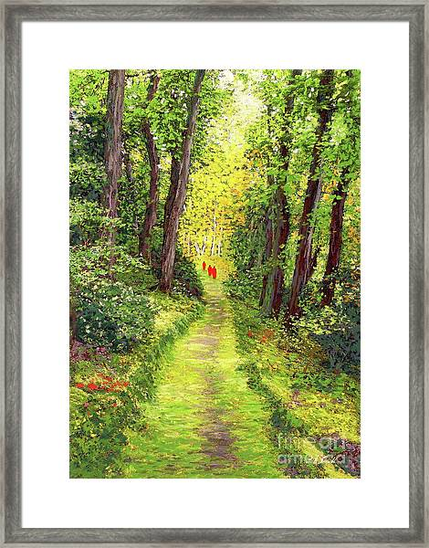 Walking Meditation Framed Print