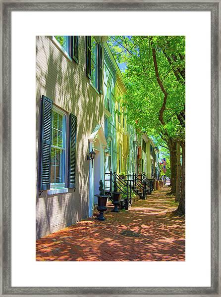 Walking On Duke Street Framed Print
