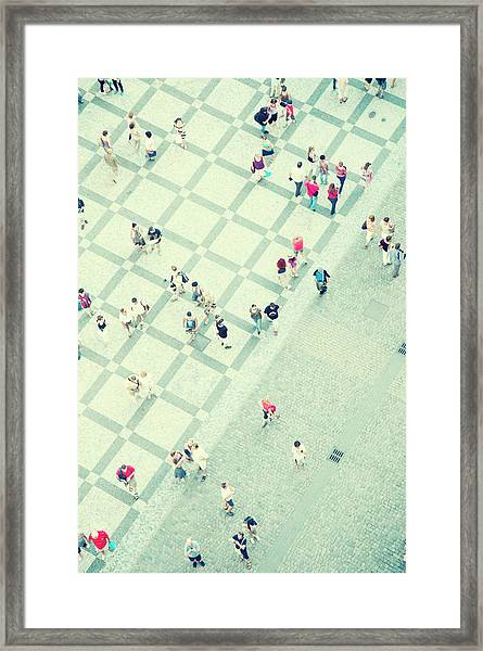 Walking People Framed Print