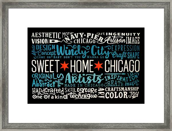 Wall Art Chicago Framed Print