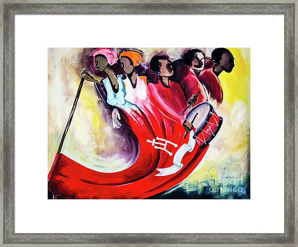 Wall Painting In Fogo, Cape Verde Framed Print