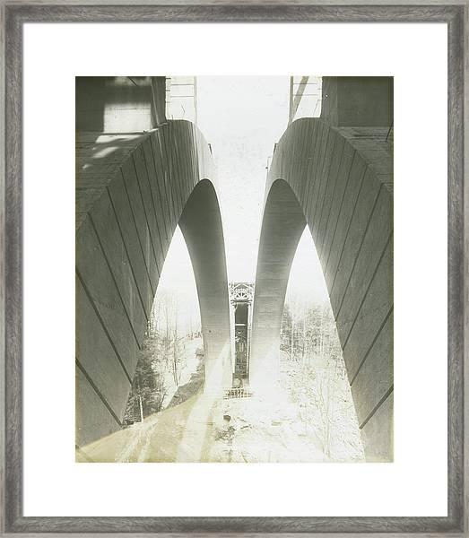 Walnut Lane Bridge Under Construction Framed Print