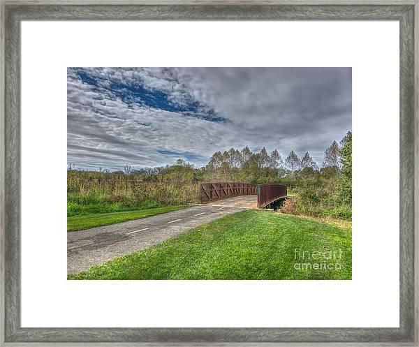 Walnut Woods Bridge - 1 Framed Print