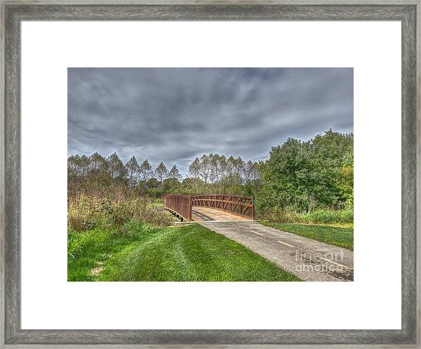 Walnut Woods Bridge - 2 Framed Print