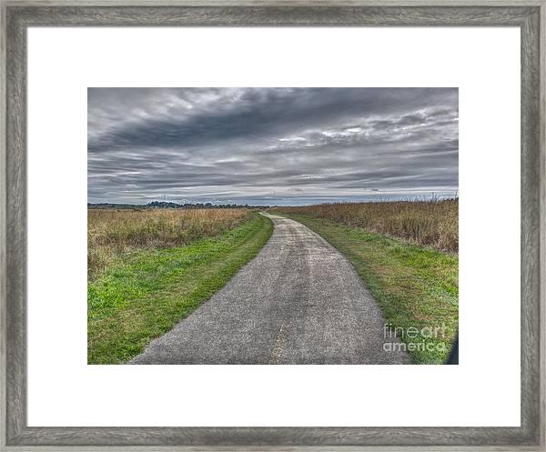 Walnut Woods Pathway - 1 Framed Print