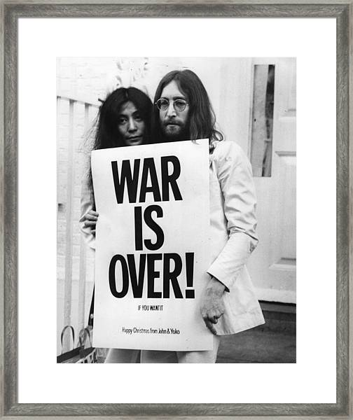 War Is Over Framed Print