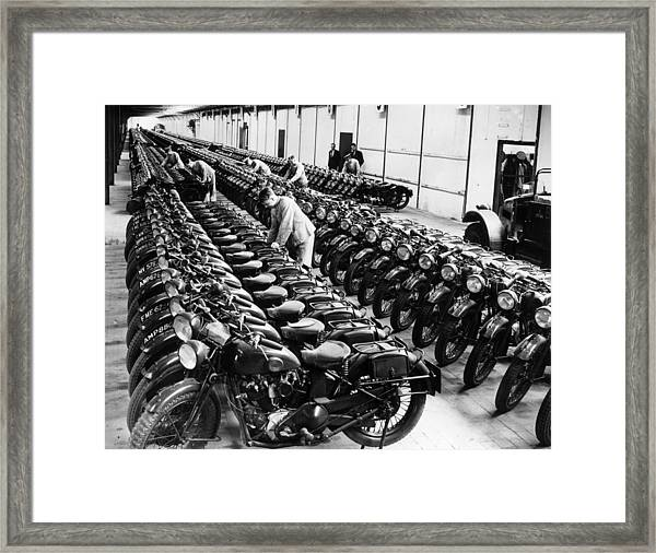 War Time Depot Framed Print