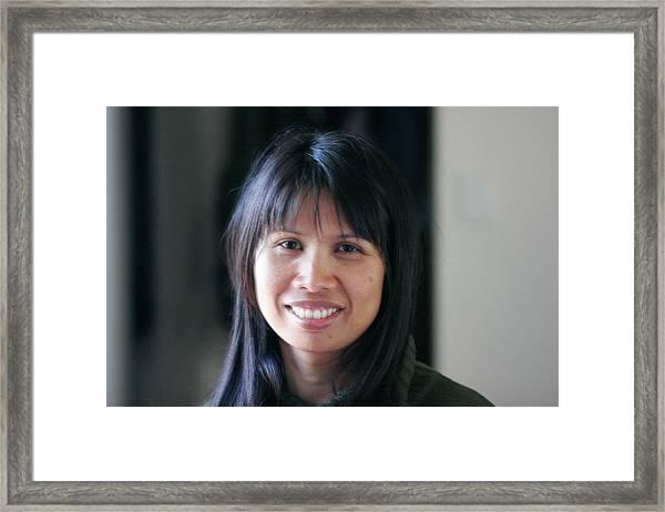 Waree's Lovely Smile Framed Print