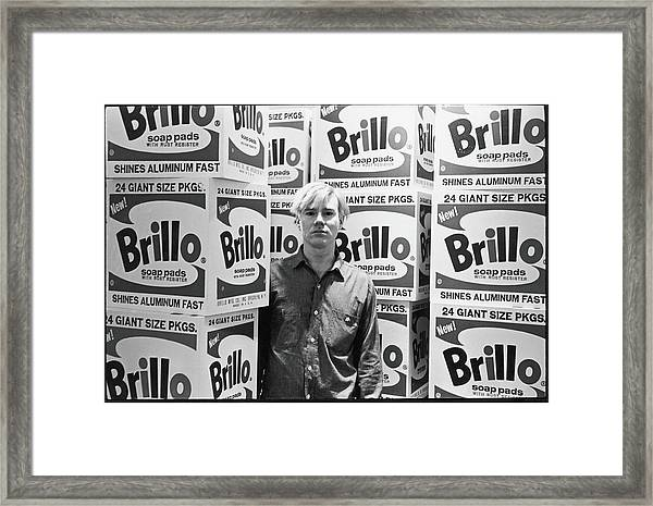 Warhol & Brillo Boxes At Stable Gallery Framed Print