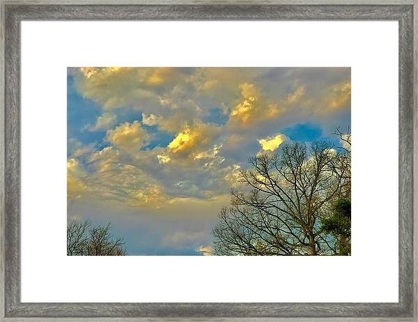 Warm And Cool Sky Framed Print