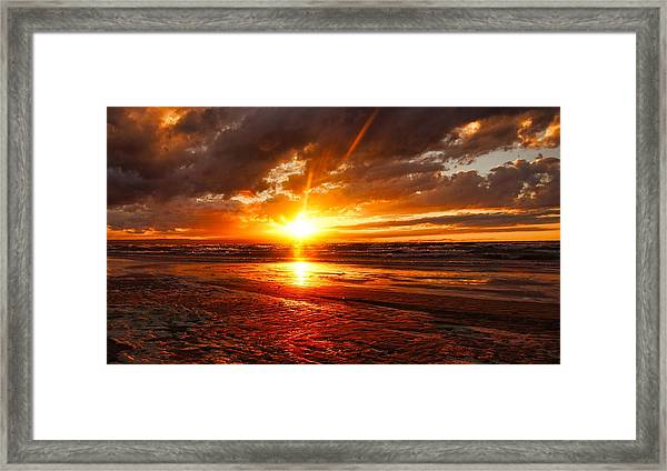 Framed Print featuring the photograph Wasaga Reflections by Bryan Smith