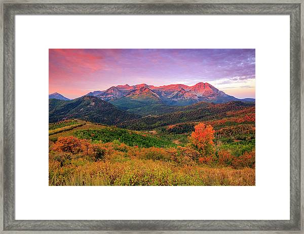 Wasatch Back Autumn Morning Framed Print
