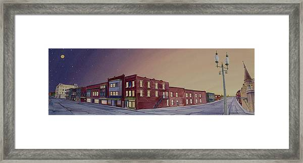 Framed Print featuring the painting Washington, Iowa by Scott Kirby