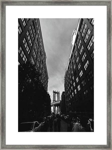 Washington Street Framed Print