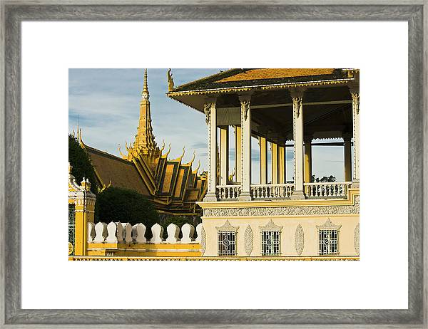 Wat Ounalom The Most Important Wat Of Framed Print