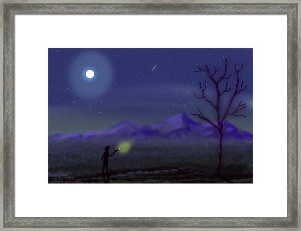 Watching Shooting Stars Framed Print
