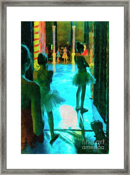 Watching The Prima Dona Framed Print