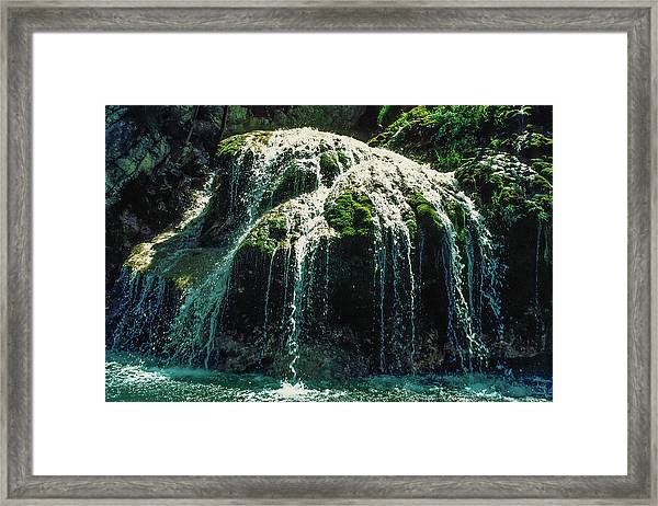 Water In Play Framed Print by Kim Lessel