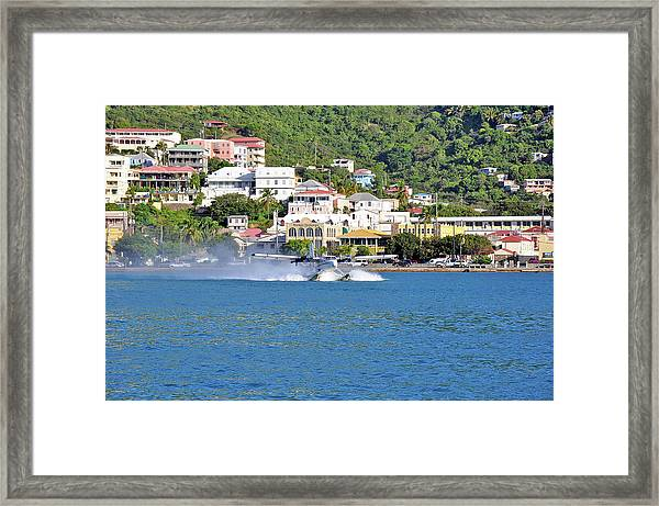 Water Launch Framed Print