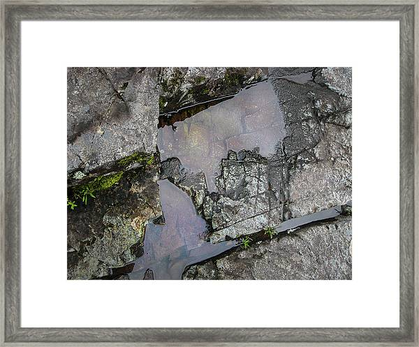 Framed Print featuring the photograph Water On The Rocks 3 by Juan Contreras