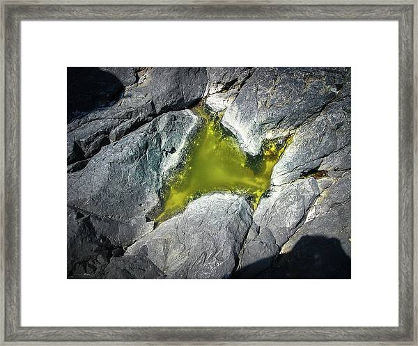 Framed Print featuring the photograph Water On The Rocks 5 by Juan Contreras