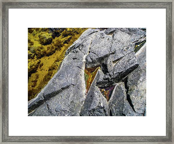 Framed Print featuring the photograph Water On The Rocks 8 by Juan Contreras