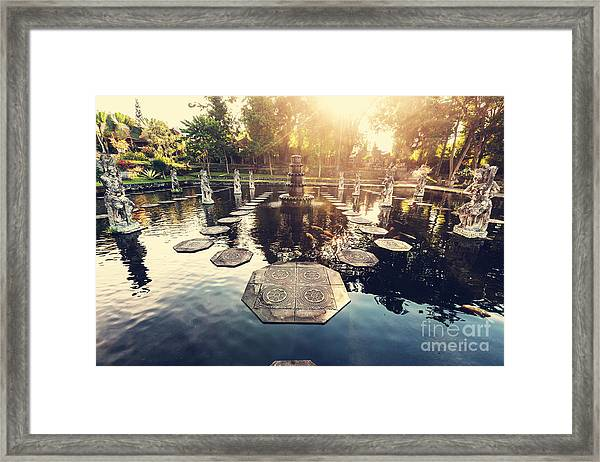 Water Palace, Bali, Indonesia Framed Print