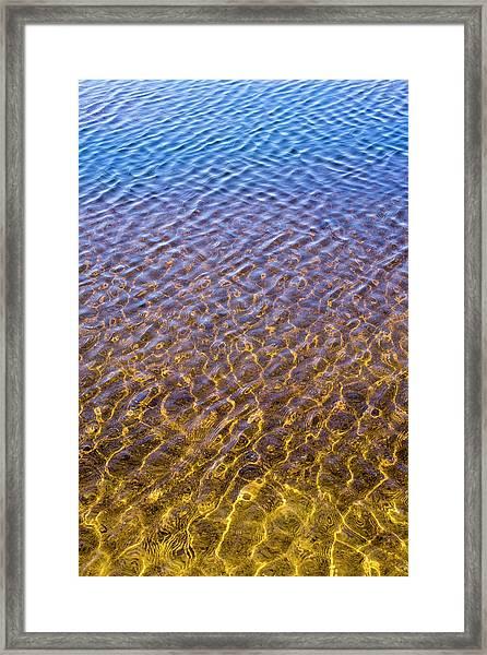 Water Reflection_al_613_18 Framed Print