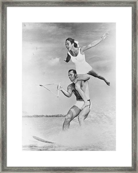 Water-ski Champs Framed Print by Fox Photos