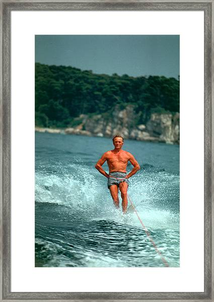 Water-skiing Star Framed Print