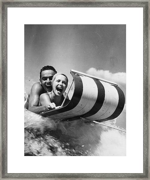 Water Toboggan Framed Print